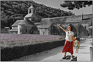 Day Tripper- Senanque Abbey France with its flowering lavender fields  photographed by Paul Williams