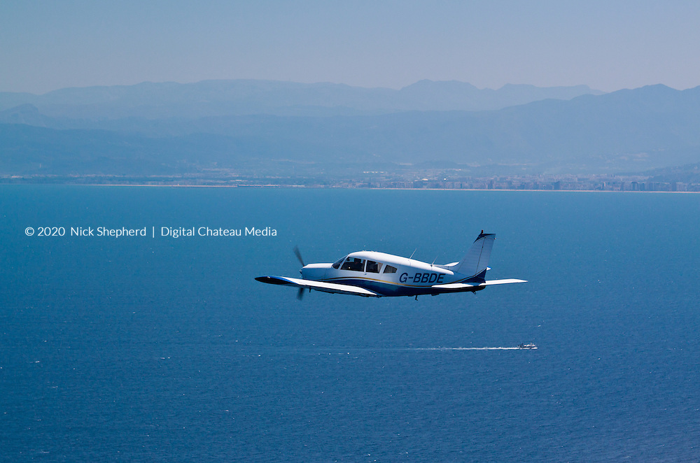 Flying over the ocean in a fixed wing, single propeller, light aircraft