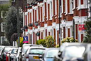 """A sign of """"To Let"""" estate agents are seen placed outside houses in south London on Sunday, May 2, 2021. The outlook for the private rental market is """"unusually uncertain"""" following nearly two decades of robust growth, according to a report. House prices in April rose at the fastest rate since 2004 as the UK faces a potential sales """"super-boom"""", with buyers rushing to take advantage of the extension of the government's stamp duty holiday. (Photo/ Vudi Xhymshiti)"""