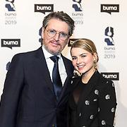 NLD/Hilversum/20190311  - Uitreiking Buma Awards 2019 , Erik de Zwart en dochter Merel de Zwart