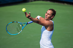 August 28, 2018 - Flushing Meadow, NY, U.S. - FLUSHING MEADOW, NY - AUGUST 28: DOMINIKA CIBULKOVA (SVK) day two of the 2018 US Open on August 28, 2018, at Billie Jean King National Tennis Center in Flushing Meadow, NY. (Photo by Chaz Niell/Icon Sportswire) (Credit Image: © Chaz Niell/Icon SMI via ZUMA Press)