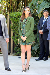 Olivia Munn looks gorgeous in green as she leaves Eva Longoria's party after receiving a star on The Walk Of Fame. 16 Apr 2018 Pictured: Olivia Munn. Photo credit: Rachpoot/MEGA TheMegaAgency.com +1 888 505 6342