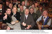 Honeymooning Dublin Lord Mayor Royston Brady and his wife Michele celebrate the New Year with Paidi O'Se and musician Jimmy Crowley in Ventry County Kerry on New years eve. Hundreds packed in to the popular Westmeath manager's pub to pop open the champagne. .Picture: Eamonn Keogh (MacMonagle,Killarney)