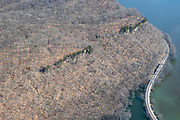 Aerial image of Effigy Mounds National Monument, near Marquette, Iowa, USA.