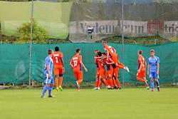 Ankaran players celebrate during football match between NK Ankaran Hrvatini and NK Domžale in 3rd Round of Prva liga Telekom Slovenije 2017/18, on July 30, 2017 in Dravograd, Slovenia. Photo by Ziga Zupan / Sportida