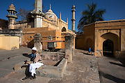 Early morning outside mosque, Amer, near Jaipur, Rajasthan