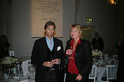 LORD EDWARD AND LADY SOMERSET, Dinner in aid of 'Action Trust For the Blind organised by Matthew Carr. 20th Century Theatre. Westbourne Gro. London. 26 September 2007. -DO NOT ARCHIVE-© Copyright Photograph by Dafydd Jones. 248 Clapham Rd. London SW9 0PZ. Tel 0207 820 0771. www.dafjones.com.
