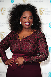 "Embargoed to 0001 Friday February 24 File photo dated 16/02/14 of Oprah Winfrey who says being overweight was her ""shield and shame"" which she used as an excuse not to have to attend parties."