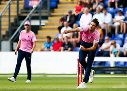 Steven Finn of Middlesex in action today <br /> <br /> Photographer Simon King/Replay Images<br /> <br /> Vitality Blast T20 - Round 4 - Glamorgan v Middlesex - Friday 26th July 2019 - Sophia Gardens - Cardiff<br /> <br /> World Copyright © Replay Images . All rights reserved. info@replayimages.co.uk - http://replayimages.co.uk