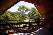 Domingos Martins_ES, Brasil...Rede de dormir na pousada Na Montanha ao lado de um trecho da Rota Imperial, antiga Estrada Dom Pedro de Alcantra...A hammock in the Na Montanha hotel next to the ancient Rota Imperial, know as Dom Pedro de Alcantara road...Foto: LEO DRUMOND / NITRO