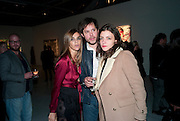 CARINE ROITFELD; NICHOLAS POL; ELEANORE MICHELIN, Private view of the exhibition ' Mother of Pouacrus' by Nicholas Pol. Presented by Vladimir Restoin Roitfeld. The Old Dairy, Wakefield St.  London. 14 October 2010. <br /> <br /> -DO NOT ARCHIVE-© Copyright Photograph by Dafydd Jones. 248 Clapham Rd. London SW9 0PZ. Tel 0207 820 0771. www.dafjones.com.
