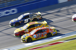 October 14, 2018 - Talladega, Alabama, United States of America - Joey Logano (22) battles for position during the 1000Bulbs.com 500 at Talladega Superspeedway in Talladega, Alabama. (Credit Image: © Justin R. Noe Asp Inc/ASP via ZUMA Wire)
