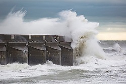 Brighton, UK. 20/11/2016, Powerful waves hitting the Brighton Marina sea wall in the aftermath of StormAngus who has hit the seaside resort overnight with winds unto 80mph. Photo Credit: Hugo Michiels