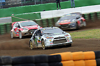 Rallycross<br /> 03.05.2015<br /> Foto: imago/Digitalsport<br /> NORWAY ONLY<br /> <br /> DTM 1.Rennen Hockenheim 2015, v.l. FIA Rallycross Championship, Supercar Final, Petter Solberg (NOR Citroen DS3), Reinis Nitiss (LVA Ford Fieste ST), Platz Timmy Hansen (SWE Peugeot)