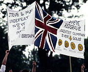 Atlanta, USA. GBR M2-, Supporters banners, showing Redgrave and Pinsents' racing record and Redgrave as a Olympic Gold Medalist.  Steve REDGRAVE and Matthew PINSENT, 1996 Olympic Rowing Regatta Lake Lanier, Georgia [Mandatory Credit Peter Spurrier/ Intersport Images]