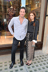 BLAISE PATRICK and STEPHANIE LA CAVA at the opening of Roksanda - the new Mayfair Store for designer Roksanda Ilincic at 9 Mount Street, London on 10th June 2014.