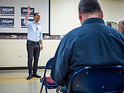 07 MAY 2019 - AMES, IOWA: JULIÁN CASTRO talks to Iowa Democrats during a campaign appearance at Collegiate United Methodist Church in Ames Tuesday. Castro is visiting Iowa to support his candidacy for the Democratic ticket of the US Presidency. Iowa traditionally hosts the the first selection event of the presidential election cycle. The Iowa Caucuses will be on Feb. 3, 2020.                            PHOTO BY JACK KURTZ
