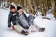 thuiswerken en schaatsen