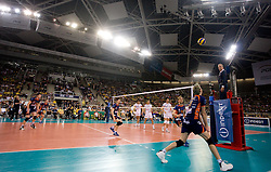 Venno Oliver (R)  at 2nd Semifinal match of CEV Indesit Champions League FINAL FOUR tournament between ACH Volley, Bled, SLO and Trentino BetClic Volley, ITA, on May 1, 2010, at Arena Atlas, Lodz, Poland. Trentino defeated ACH 3-1. (Photo by Vid Ponikvar / Sportida)