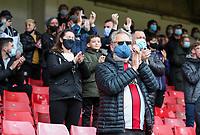 Sheffield United fans applaud<br /> <br /> Photographer Alex Dodd/CameraSport<br /> <br /> The Premier League - Sheffield United v Burnley - Sunday 23rd May 2021 - Bramall Lane - Sheffield<br /> <br /> World Copyright © 2021 CameraSport. All rights reserved. 43 Linden Ave. Countesthorpe. Leicester. England. LE8 5PG - Tel: +44 (0) 116 277 4147 - admin@camerasport.com - www.camerasport.com