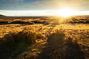 Sunset on the Great Salt Lake. Antelope Island State Park, Utah.