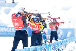 Simon Eder of Austria competes during the IBU World Championships Biathlon Men Pursuit competiton, on February 14, 2021 in Pokljuka, Slovenia. Photo by Vid Ponikvar / Sportida