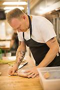 Ricker prepares a thai fish recipe