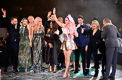 Former housemates join the stage as Courtney Act aka Shane Jenek is crowed the winner of the Celebrity Big Brother Final, held at Elstree Studios in Borehamwood, Hertfordshire.