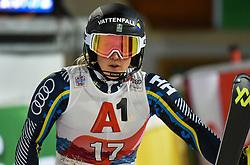 14.01.2020, Hermann Maier Weltcupstrecke, Flachau, AUT, FIS Weltcup Ski Alpin, Slalom, Damen, 2. Lauf, im Bild Emelie Wikstroem (SWE) // Emelie Wikstroem of Sweden reacts after her 2nd run of women's Slalom of FIS ski alpine world cup at the Hermann Maier Weltcupstrecke in Flachau, Austria on 2020/01/14. EXPA Pictures © 2020, PhotoCredit: EXPA/ Erich Spiess