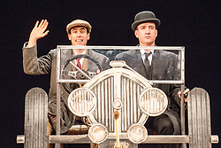 © Licensed to London News Pictures. 05/11/2013. Perfect Nonsense is adapted from the Jeeves and Wooster stories of P.G. Wodehouse. Sean Foley will directs Matthew Macfadyen and Stephen Mangan as the legendary duo  at the Duke of York's Theatre. Picture shows Matthew Macfadyen (Jeeves) & Stephen Mangan (Bertie Wooster). Photo credit: Tony Nandi/LNP.