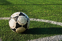 Dec. 05, 2012 - Close up of a ball on a football pitch (Credit Image: © Image Source/ZUMAPRESS.com)