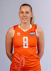 Demi Korevaar of Netherlands, Photoshoot selection of Orange women's volleybal team season 2021on may 12, 2021 in Arnhem, Netherlands (Photo by RHF Agency/Ronald Hoogendoorn)