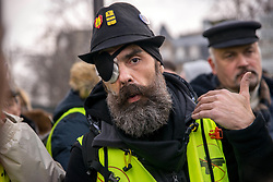 Jerome Rodrigues at the act 12 of yellow vests protest in Paris, France, on February 02, 2019. Photo by Denis Prezat/Avenir Pictures/ABACAPRESS.COM