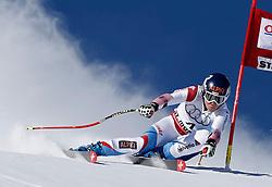 14.12.2013, Engiadina, St. Moritz, SUI, FIS Weltcup Ski Alpin, St. Moritz, Riesentorlauf, Damen, 1. Durchgang, im Bild Fraenzi Aufdenblatten (SUI) // in action during the 1st run of ladies Giant Slalom of the St. Moritz FIS Ski Alpin World Cup at the Engiadina in St. Moritz, Switzerland on 2013/12/14. EXPA Pictures © 2013, PhotoCredit: EXPA/ Freshfocus/ Christian Pfander<br /> <br /> *****ATTENTION - for AUT, SLO, CRO, SRB, BIH, MAZ only*****