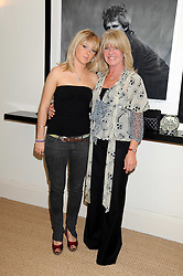 Left to right, BELLA BENSON and her mother INGRID SEWARD at the launch party of Ingrid Seward's new book 'William & Harry - The People's Princes' held at 47 Hornton Court West, London W8 on 7th October 2008.