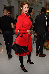 Jasmine Guinness on the front row during the Jasper Conran London Fashion Week SS18 show held at Claridge's, London. Picture date: Saturday September 16th, 2017. Photo credit should read: Matt Crossick/ EMPICS Entertainment.