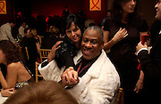 Amanda Harlech and Andre Leon Talley, Aids beneft during couture week, Pavilion D'Armee Nonville, 21 January 2004. © Copyright Photograph by Dafydd Jones 66 Stockwell Park Rd. London SW9 0DA Tel 020 7733 0108 www.dafjones.com