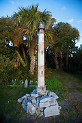 A model of the Morris Island Lighthouse at the end of Folly Beach near Charleston, SC. Morris Lighthouse dates back to 1767 but was rebuilt in the current form in 1873 after it was destroyed in the civil war.