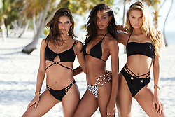 Victoria's Secret is bringing back its sensational swimwear range …<br /> The high-class lingerie firm discontinued the line in Spring 2016 in a decision which angered the brand's regular customers.<br /> Now executives have decided to reintroduce the range. <br /> Pictured: Sara Sampaio, Jasmine Tookes and Romee Strijd