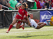Arnold Lim/News staff<br /> World Rugby Women's Sevens Series at the Westhills stadium in Langford. April 19, 2015.
