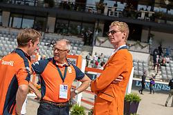 Bles Bart, NED, Ehrens Rob, NED, Schuttert Frank, NED<br /> European Championship Jumping<br /> Rotterdam 2019<br /> © Hippo Foto - Dirk Caremans<br /> Bles Bart, NED, Ehrens Rob, NED, Schuttert Frank, NED