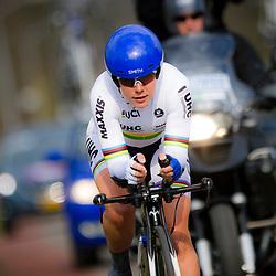 09-04-2016: Wielrennen: Energiewachttour vrouwen: Roden<br /> LEEK (NED) wielrennen<br /> De vijfde etappe van de Energiewachttour was een individuele tijdrit met start en finish in Leek. Werledkampioen tijdrijden Linda Villumsen