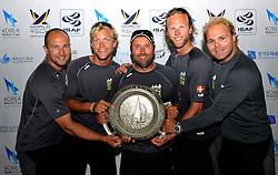 Bjorn Hansen and his Korea Match Cup winning team. Photo:Chris Davies/WMRT