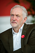 The Labour leader Jeremy Corbyn speaking at a 'Show Racism the Red Card' event for Islington school children at Arsenal's Emirates Stadium highlighting race issues and how children can address them. Emirates Stadium, London. United Kingdom. 8th February 2018.  (photo by Andrew Aitchison / In pictures via Getty Images)