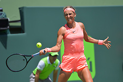 March 29, 2018 - Key Biscayne, FL, U.S. - KEY BISCAYNE, FL - MARCH 29: in action during day 11 of the 2018 Miami Open at Crandon Park Tennis Center on March 29, 2018, in Key Biscayne, FL. (Photo by Andrew Patron/Icon Sportswire) (Credit Image: © Andrew Patron/Icon SMI via ZUMA Press)