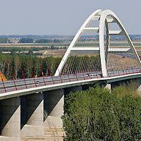 0707239273a Ferenc Gyurcsany and Janos Koka at the celebration of the newly built record breaker Pentele Bridge over river Danube at Dunajuvaros, Hungary. Monday, 23. July 2007. ATTILA VOLGYI
