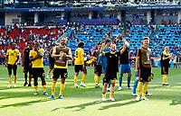 belgium celebrate greeting the supporters<br /> Moscow 23-06-2018 Football FIFA World Cup Russia  2018 <br /> Belgium - Tunisia / Belgio - Tunisia <br /> Foto Matteo Ciambelli/Insidefoto