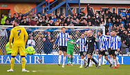The Sheffield Wednesday players surround the referee  during the Sky Bet Championship match between Sheffield Wednesday and Leeds United at Hillsborough, Sheffield, England on 16 January 2016. Photo by Adam Rivers.