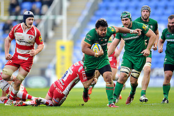 Ofisa Treviranus of London Irish goes on the attack - Photo mandatory by-line: Patrick Khachfe/JMP - Mobile: 07966 386802 30/11/2014 - SPORT - RUGBY UNION - Reading - Madejski Stadium - London Irish v Gloucester Rugby - Aviva Premiership