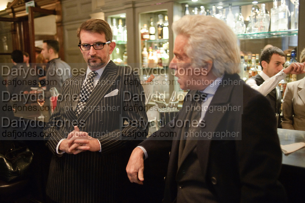 COUNT MANFREDI DELLA GHERARDESCA; ; GIANCARLO GIACOMETTI, Graydon and Anna Carter host a lunch for Carolina Herrera to celebrate the ipening of her new shop on Mount St. .The Connaught. London. 20 January 2010